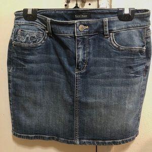 WHBM Denim Mini Skirt